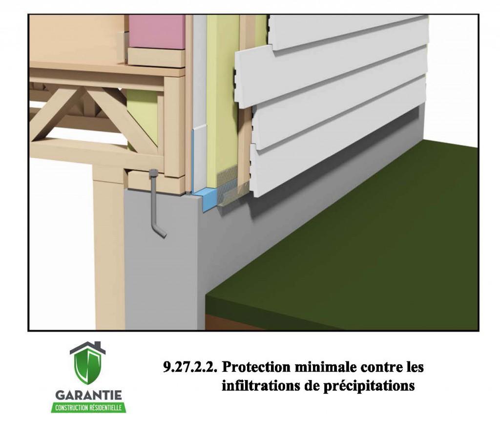 Protection minimale contre les infiltrations de - Code urbanisme mur de soutenement ...